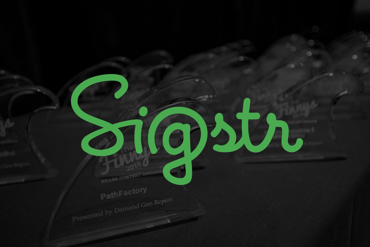 Finny Friday: Sigstr Takes The Stage To Share Thoughts On First-Ever B2B Choice Award Win