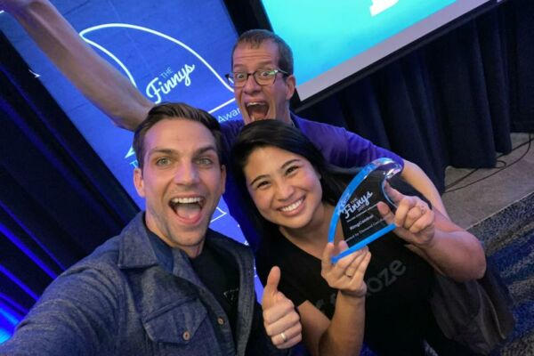 The RingCentral teams celebrates their win for outstanding Account-Based Marketing Campaign.