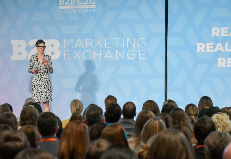 """Tamsen Webster inspired a room of marketers  to build messages people say """"YES!"""" to."""
