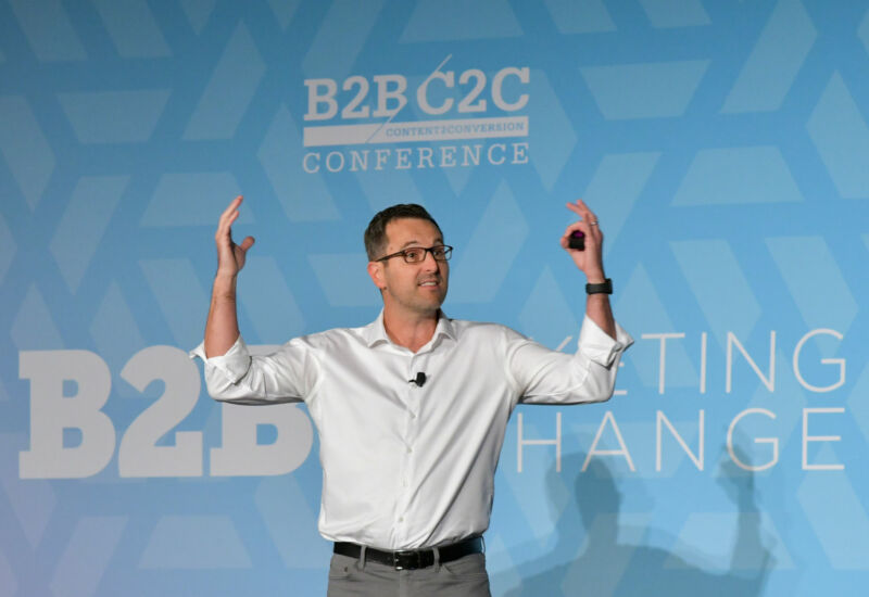 Author Todd Henry tackled the B2B creativity problem during his keynote.