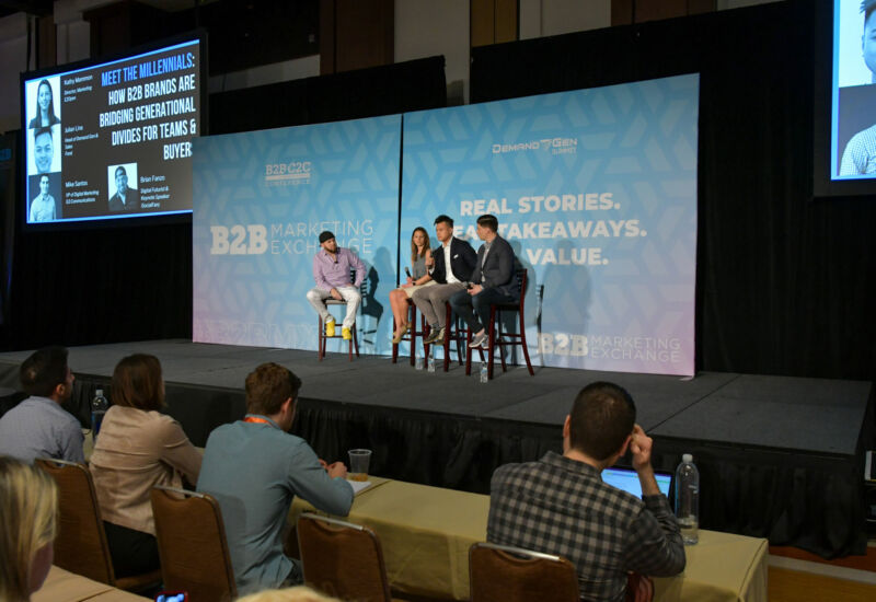 Keynoter Brian Fanzo was joined by a panel of Millennials to discuss what they expect in a work environment and when making a purchase decision.