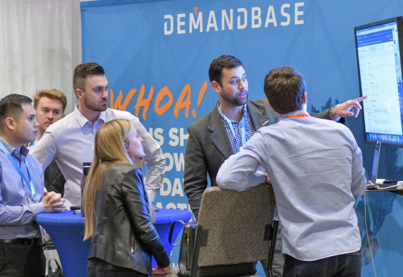 In between sessions, representatives from some of the biggest brands in B2B were able to get up close and personal with attendees curious about their solutions.