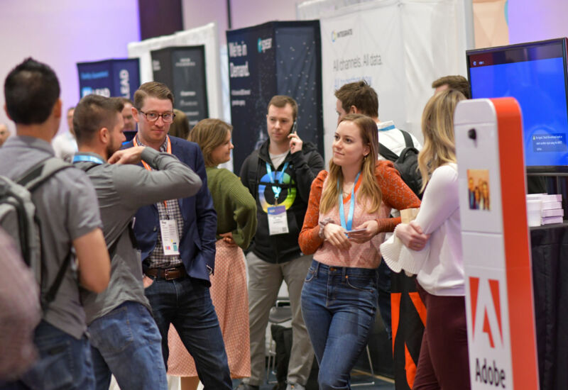 The Marketplace was bustling with attendees eager to check out the latest and greatest solutions in the martech place.