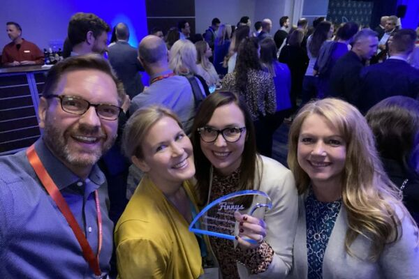 """This is the second """"Finny"""" that Jen Holtvluwer and Alison Munn have won working with TopRank Marketing."""