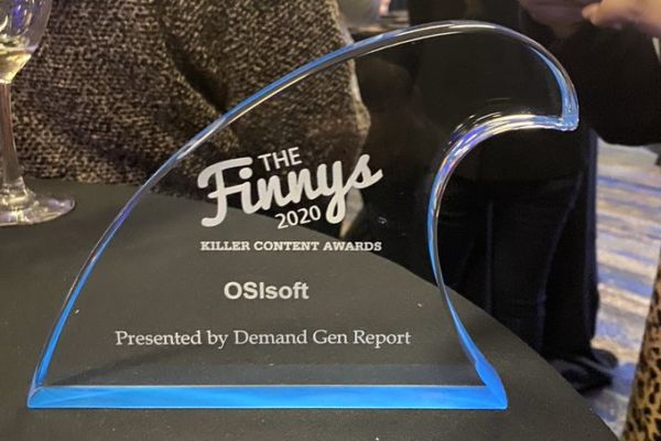Teamwork makes the dream work. OSIsoft secured this Finny for their Measurable ROI.